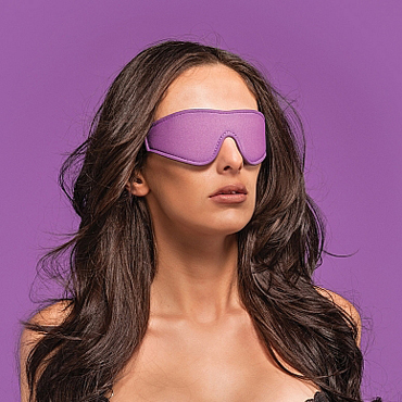 Ouch! Reversible Eyemask, черно-фиолетовая Двухсторонняя маска на глаза ouch tribal masquerade mask черная маска на глаза в венецианском стиле