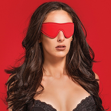 Ouch! Reversible Eyemask, черно-красная Двухсторонняя маска на глаза пробка анальная стимулятор простаты