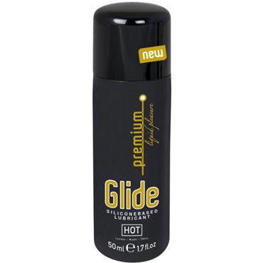 Hot Glide Premium, 50 мл Интимный гель на силиконовой основе вибропуля wings of desire