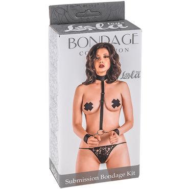 Lola Toys Submission Bondage Kit Plus Size, черный Ошейник с наручниками увеличенного размера lola toys submission bondage kit plus size черный ошейник с наручниками увеличенного размера