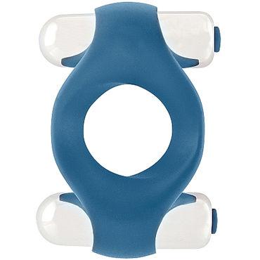 Shots Mjuze Infinity, синее Виброкольцо для пениса shots toys infinity single vibrating cockring синее кольцо с вибропулей