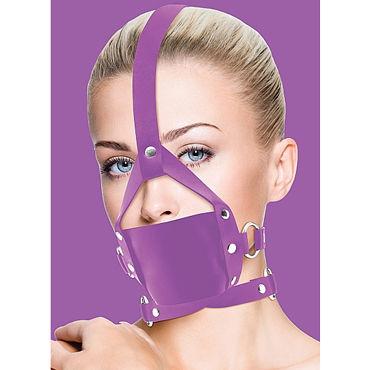 Ouch! Leather Mouth Gag, фиолетовый Кляп и кожи ouch eyemask коричневая маска на глаза