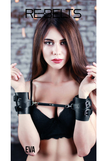 Rebelts Eva, черные Наручники кожаные ❤️ super powerful multi speed waterproof g spot av wand секс игрушки беспроводные волшебные палочки для массажа вибраторы для секса для женщин