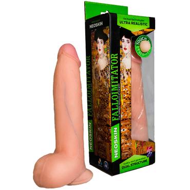 Bioclon Human Form 20,5 см, телесный Фаллоимитатор реалистичный на присоске с мошонкой игра алиса в стране фетиша