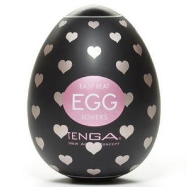 Tenga Egg Lovers Одноразовый мастурбатор с рельефом в виде сердечек lola toys first time hearts beads розовая гибкая анальная цепочка с сердечками