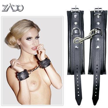 Zado Leder Handfesseln Наручники кожаные zado all over fessel комплект bdsm аксессуаров