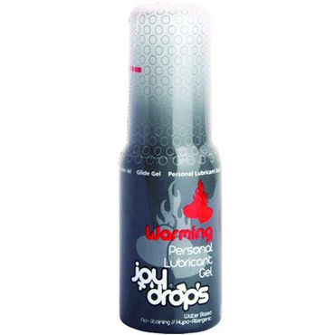 JoyDrops Warming, 50 мл Разогревающая смазка bdsm арсенал ошейник с кольцом для поводка черно красный декорирован шипами