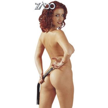 Zado Mini-Peitsche Кожаная плетка 45 см р белье для ролевых игр и костюмы униформа материал хлопок