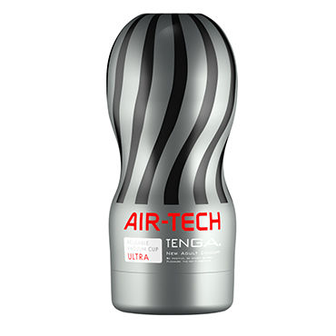 Tenga Air-Tech Ultra Мастурбатор с интенсивным рельефом, создающий ощущение глубокого минета baile насадка на пенис черная с петлей для мошонки