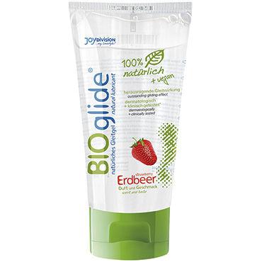 Bioglide Strawberry, 80 мл Натуральная смазка со вкусом клубники durex play sweet strawberry интимная гель смазка с ароматом сладкой клубники 50 мл