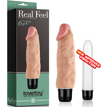 Lovetoy Real Feel №6 Вибратор реалистик вибратор real feel 12