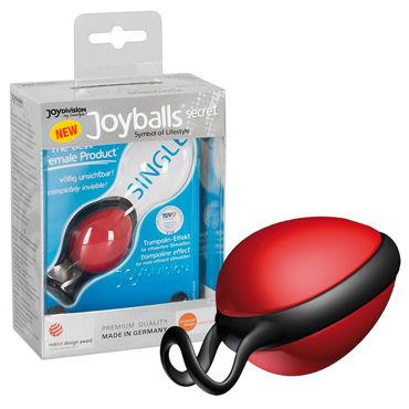 JoyDivision Joyballs Secret Single, красный Вагинальный шарик joydivision joyballs secret красные вагинальные шарики со смещенным центром тяжести