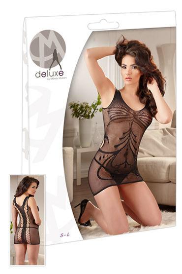 Orion Мини платье, черное Сетчатое с рисунком мини платье seamless strappy