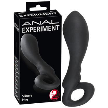 You2Toys Anal Experiment, черная Анальная пробка с кольцом baile вибратор с тремя источниками вибрации