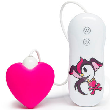 Tokidoki 10 function Pink Heart, розовый Вибратор с пультом управления портупея me seduce harness 3 white s m