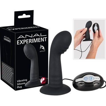 You2Toys Anal Experiment Butt Plug, черный Вибровтулка анальная с пультом 35mm pyrex glass butt plug anal dildo beads crystal vagina balls fake penis female masturbate for women men gay adult sex toy