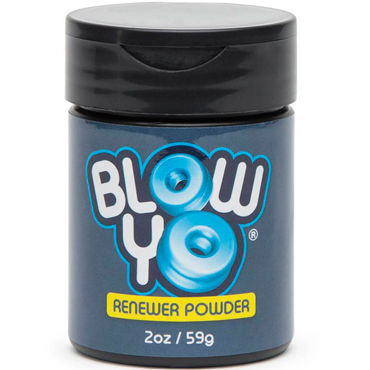 BlowYo Renewer Powder, 59 г Порошок для ухода за стимулятором BlowYo фаллоимитатор king cock 10 squirting cock w balls flesh с эффектом семяизвержения