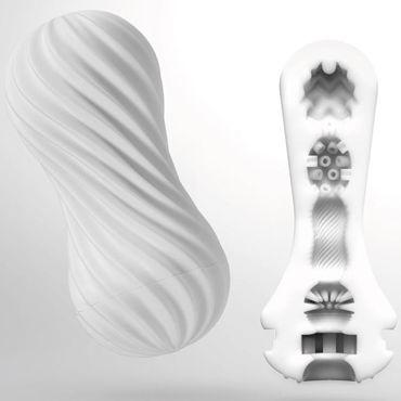 Tenga Flex Silky White, белый Мастурбатор с вращательной функцией наручники 2 черно розовые