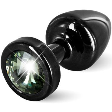 Diogol Anni, черная Втулка с зеленым кристаллом Swarovski diogol anni magnet t1 красная анальная пробка с 2мя сменными кристаллами swarovski
