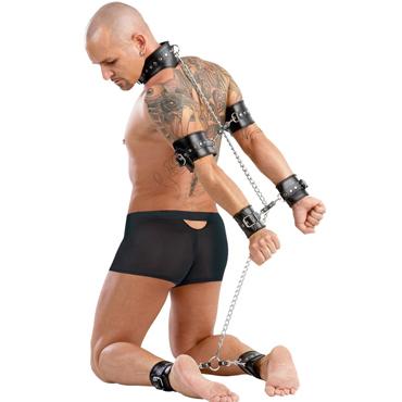 Zado Complete Leather Bondage Set, черный Комплект для фиксации тела zado кандалы для ног кожаные