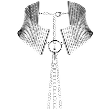 Bijoux Indiscrets Desir Metallique, серебристый Ошейник металлический дюрекс гель лубрикант play stimulating massage 2в1 200мл