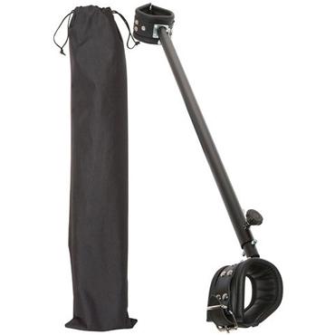 Zado Leather Spreader Bar, черная Распорка для ног регулируемая zado кандалы для ног кожаные