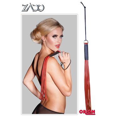 Zado Leather Whip, красная Плетка кожаная маска из натуральной кожи красная