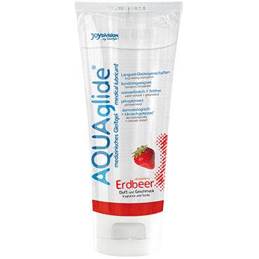 Aquaglide Strawberry, 100 мл Лубрикант на водной основе с ароматом земляники aquaglide 3 мл нейтральный лубрикант на водной основе
