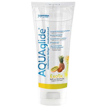Aquaglide Exotic, 100 мл Лубрикант на водной основе с ароматом тропических фруктов смазка magic eye gay 360ml