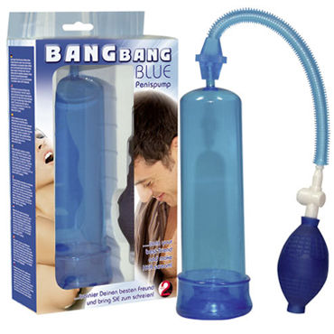 You2Toys Bang Bang Blue помпа С ручным насосом pipedream clit pump помпа для клитора