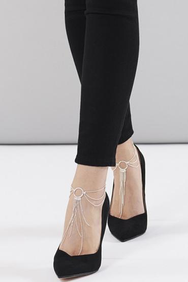 Bijoux Magnifique Feet Chain, серебристое Украшение для ног из металлических цепочек bijoux magnifique metallic chain handcuffs bracelets серебристые наручники из цепочек стильные браслеты