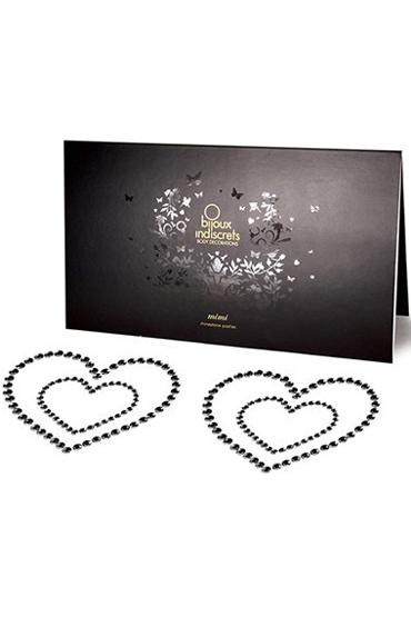 где купить Bijoux Mimi Heart, черное Украшение для груди по лучшей цене