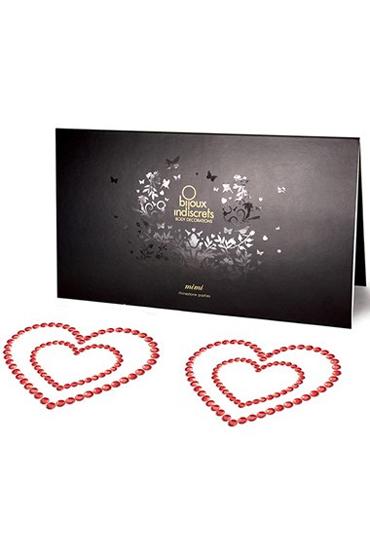 где купить Bijoux Mimi Heart, красное Украшение для груди по лучшей цене