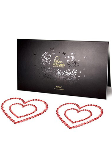 Bijoux Mimi Heart, красное Украшение для груди цена