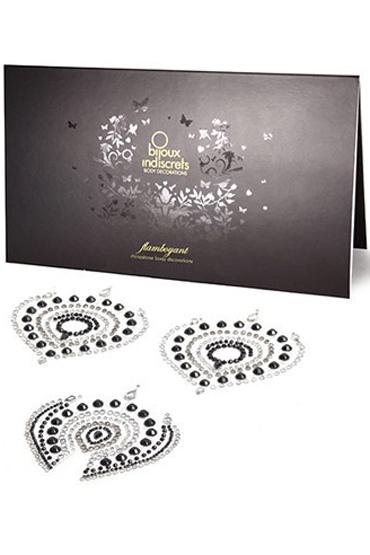 где купить Bijoux Flamboyant, черно-серое Украшение для груди и зоны бикини по лучшей цене