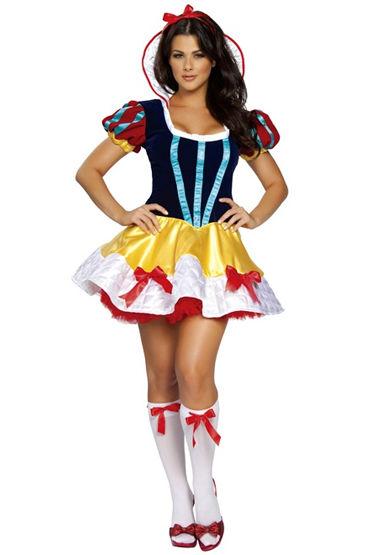 Le Frivole Сказочная Белоснежка Платье со вшитым подъюбником le frivole чулки с бантами белые с декорированной резинко
