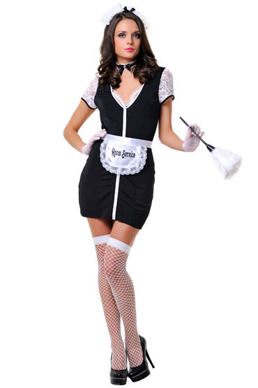 Le Frivole Недоступная горничная Сексапильный костюм для ролевых игр le frivole колготки с открытыми бедрами черные в виде чулок
