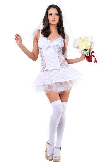 Le Frivole Невеста Сорочка и фата костюм сексуальной прислуги le frivole costumes костюм сексуальной прислуги