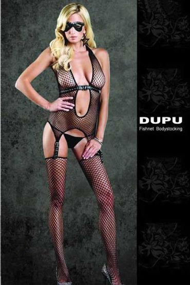 Dupu комплект Топ с подтяжками и чулки подвязки