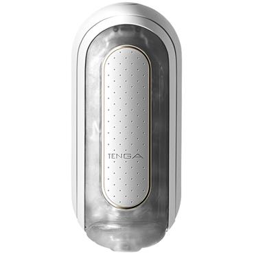 Tenga Flip Zero Electronic Vibration, белый Мастурбатор c уникальным рельефом, эффектом вакуума и вибрацией боди esther s