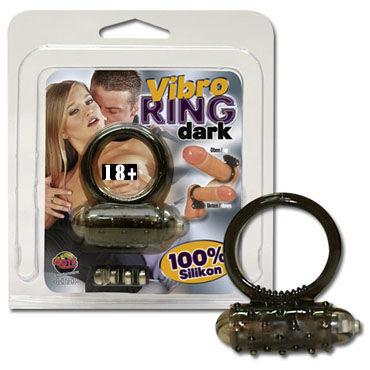 Vibro Ring Dark кольцо Эрекционное кольцо с вибрацией увеличитель пениса su