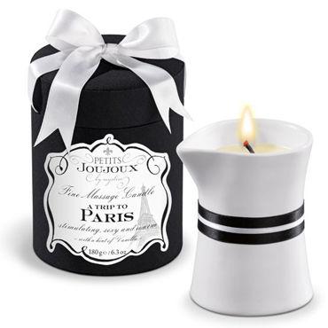 Mystim Petits Joujoux A Trip To Paris, 190г Свеча для массажа с ароматом ванили и сандала mystim electrode gel adhesive 50мл электропроводящий клей для электродов