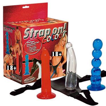 Coloor Набор фаллоимитаторов на трусах mio презервативы g точка 12шт 3 шт секс игрушки для взрослых