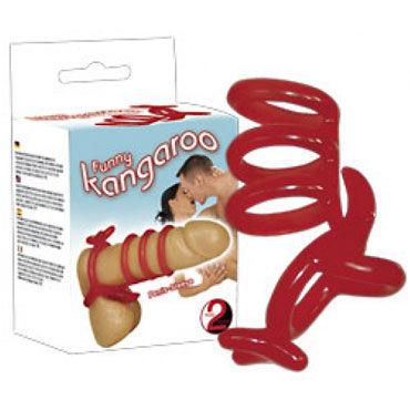 Kangaroo Насадка на пенис со стимуляцией мошонки howells секс игрушки для взрослых массажер для ануса