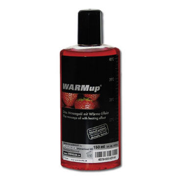 Warmup Клубника, 150 мл Ароматизированное массажное масло ароматизированное массажное масло hot stuff вишня 177 мл