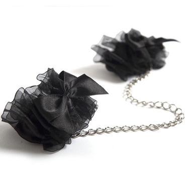 Bijoux Indiscrets Frou Frou, черные Наручники из органзы bijoux indiscrets l essence de boudoir 130 мл духи для белья и постели
