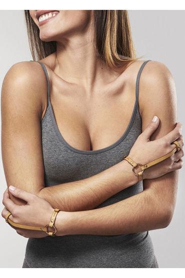 Bijoux Indiscrets MAZE Hand Braslet Harness, коричневые Браслеты с кольцом для пальца цена и фото