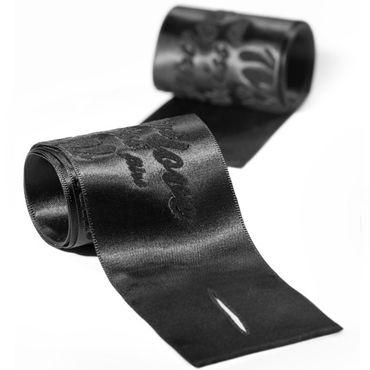 Bijoux Indiscrets Silky Sensual Handcuffs, черные Ленты для связывания рук bijoux indiscrets frou frou черные наручники из органзы