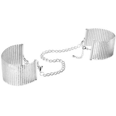Bijoux Indiscrets Desir Metallique, серебряные Наручники металлические
