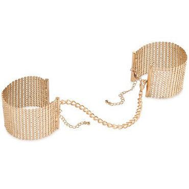 Bijoux Indiscrets Desir Metallique, золотые Наручники металлические